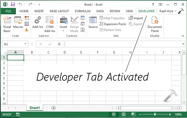 [How To] Enable Developer Tab In Office 2013