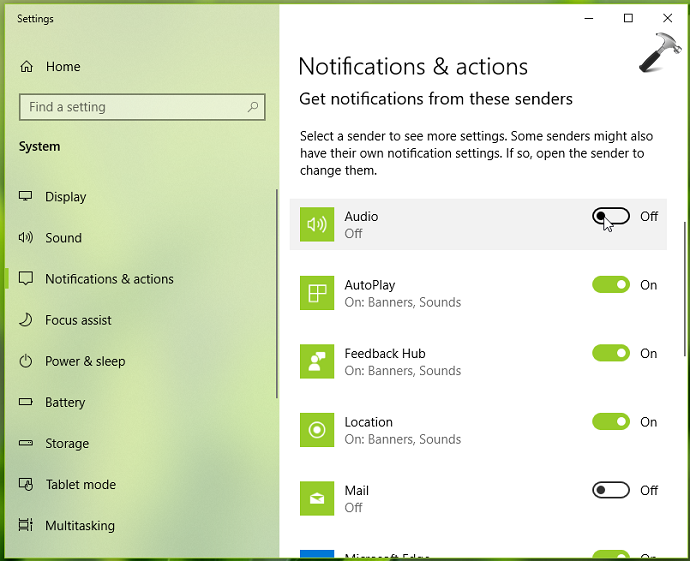 How To Enable Disable Notifications In Windows 10