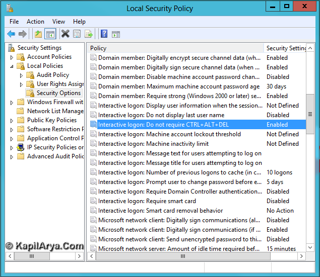 How To Enable Disable Secure Sign In Windows 8 Ctrl Alt Delete 1