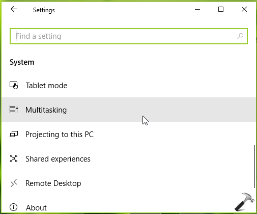 How To Enable Disable Sets In Windows 10