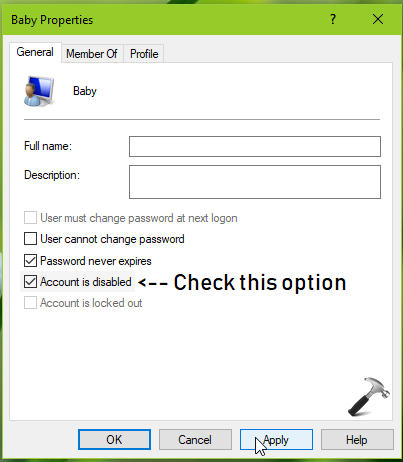 How To Enable Disable User Account In Windows 10