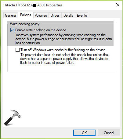 How To Enable Disk Write Caching In Windows 10