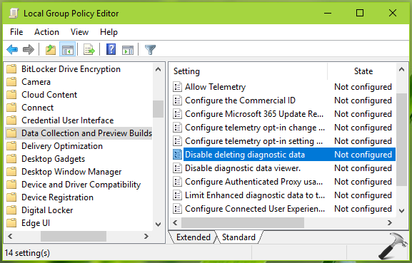 How To Enable Or Disable Deleting Diagnostic Data In Windows 10