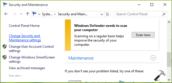 how to change security for windows 10