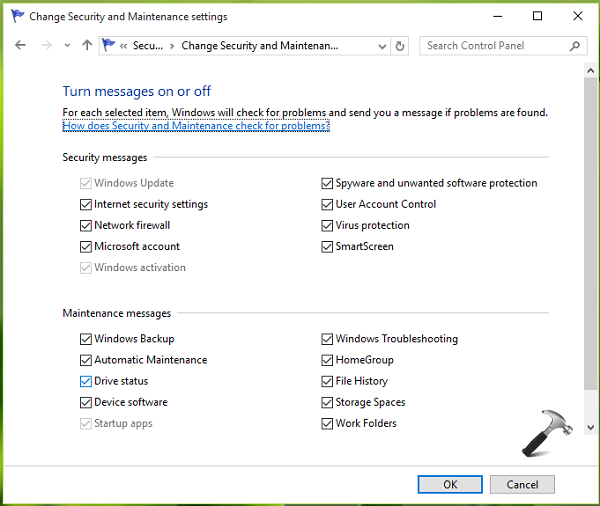 How To] Enable Or Disable Maintenance Messages For Windows 10
