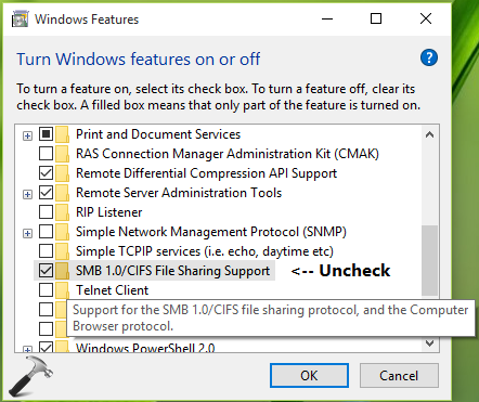 How To Enable Or Disable SMB Protocols In Windows 10