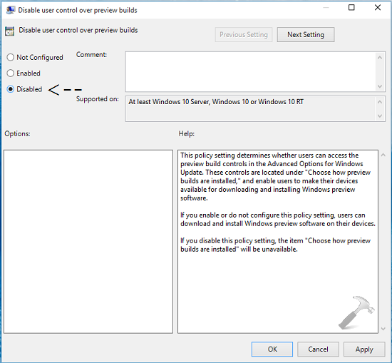 How To Enable Or Disable User Control Over Preview Builds In Windows 10