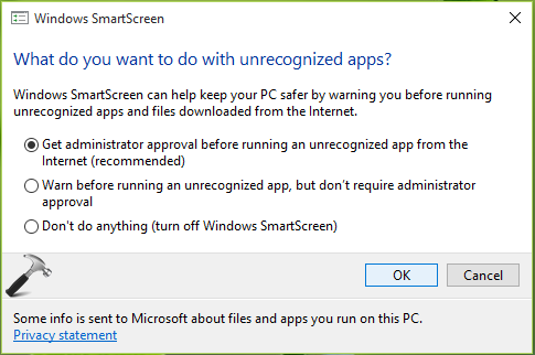 How To Enable Or Disable Windows SmartScreen In Windows 10