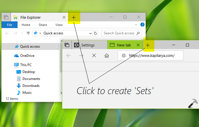 How To Enable Sets In Windows 10