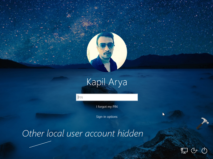 How To Hide Local User Accounts From Login Screen In Windows 10