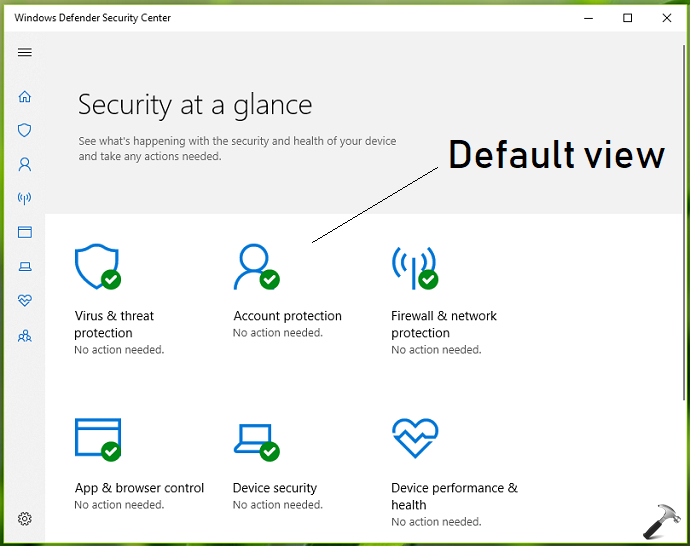 How To Hide Specific Pages In Windows Defender Security Center App In Windows 10