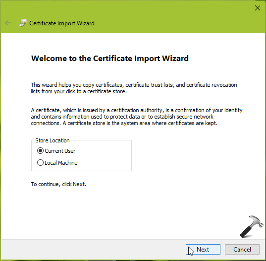 How To Import EFS Key And Certificate In Windows 10