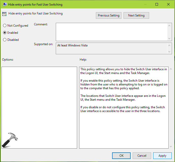 How To Manage Fast User Switching In Windows 10