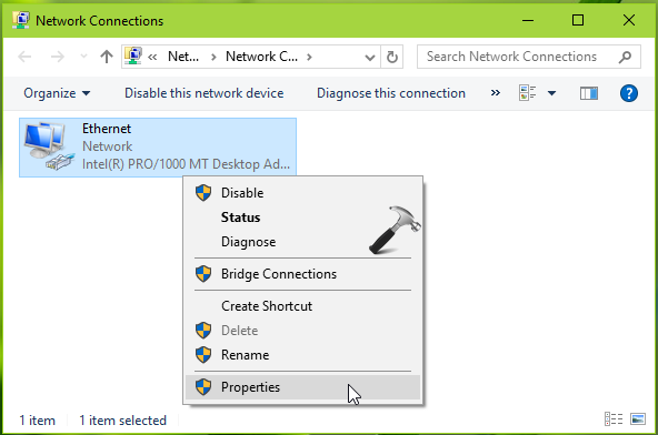 FIX DHCP Is Not Enabled For Ethernet In Windows 10