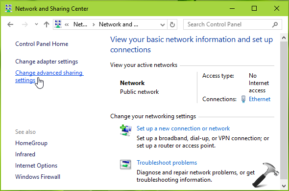 How To Manage File And Printer Sharing In Windows 10