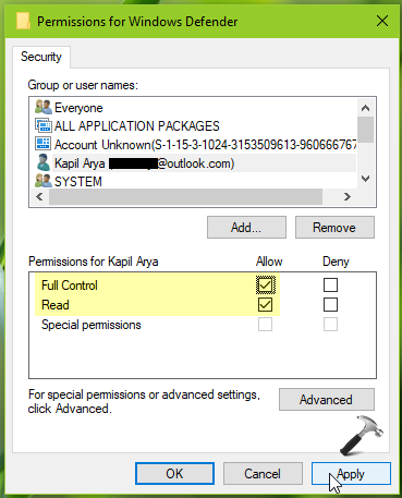 How To Manually Take Ownership Of Registry Key In Windows 10