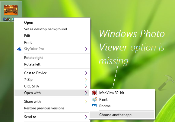 How To Open Images With Windows Photo Viewer In Windows 10