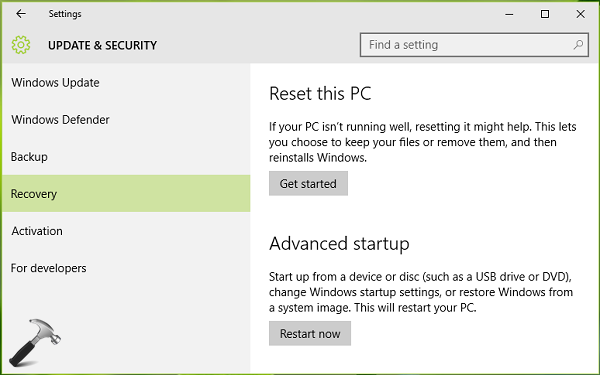 How To Disable Automatic Restart After Failure In Windows 10