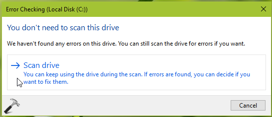 How To Perform Disk Error Checking In Windows