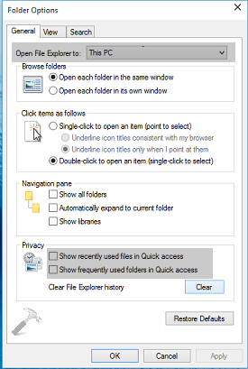 How To Permanently Remove Quick Access From File Explorer In Windows 10
