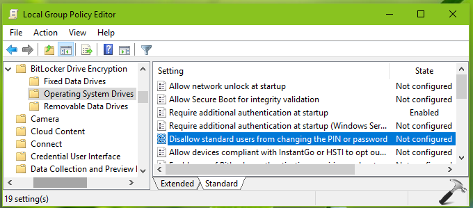 How To Prevent Users To Change BitLocker Password For OS Drive