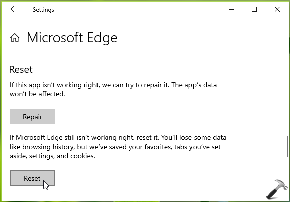 How To Re-register Reset Microsoft Edge In Windows 10