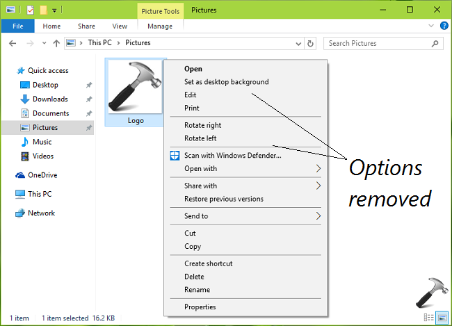 How To Remove Cast To Device And 3D Print With 3D Builder Options From Context Menu In Windows 10