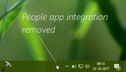 How To Remove People From Taskbar In Windows 10 Fall Creators Update