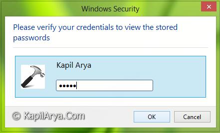 view saved passwords internet explorer 11