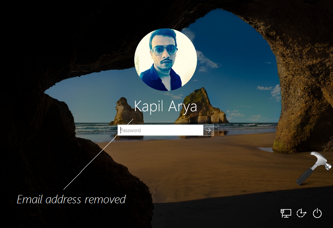 How To Remove Your Email Address From Windows 10 Login Screen
