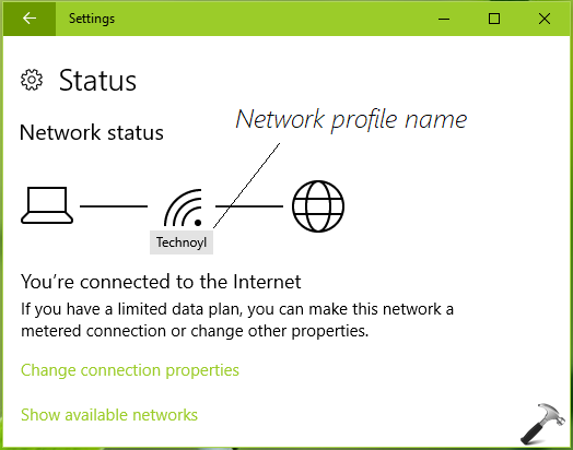 How To Rename A Network Profile In Windows 10