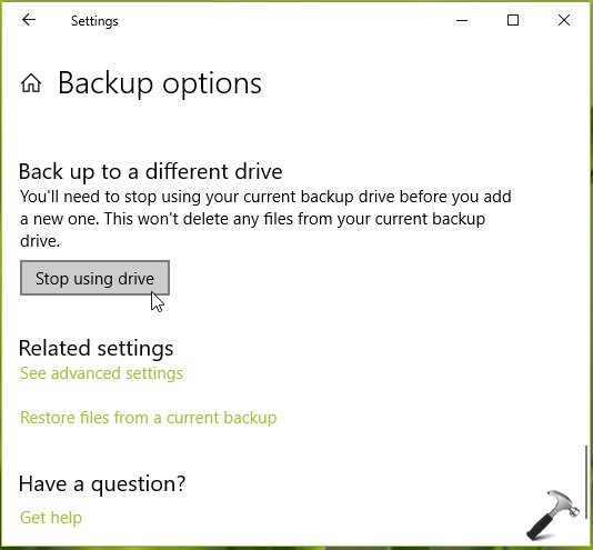 How To Reset File History To Default In Windows 10