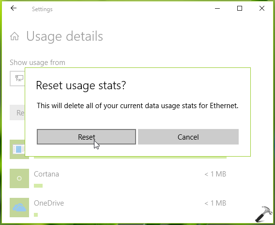 How To Reset Network Data Usage In Windows 10