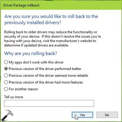 How To Restore/Roll Back Driver To Previous Version In Windows 10