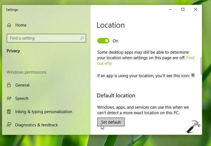 How To Set A Default Location In Windows 10