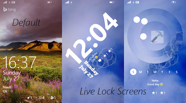 How To Set Live Lock Screen In Windows Phone 81