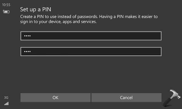 How To Setup PIN In Windows 10 Mobile