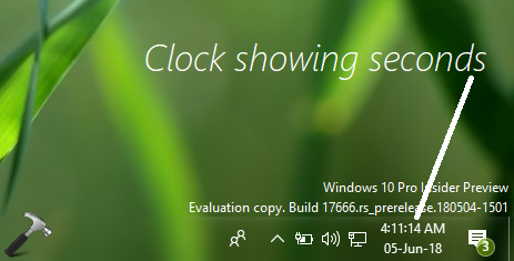 How To Show Seconds In Windows 10 Taskbar Clock