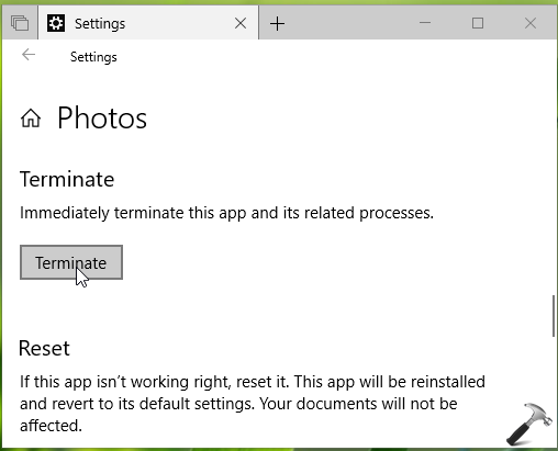 How To Terminate Built-in Apps In Windows 10
