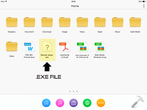 How To] Transfer  EXE Files From iPad To Windows
