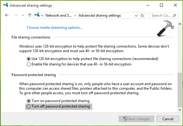 password protect folder windows 10