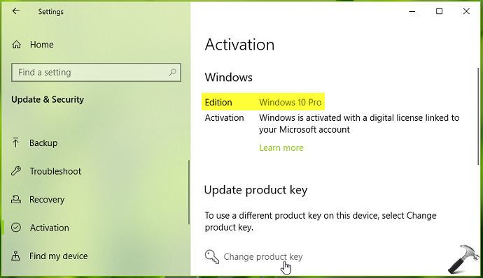 how can i get my activation key for upgraded windows 10 pro