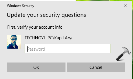 How To Use Security Questions To Reset Account Password In Windows 10