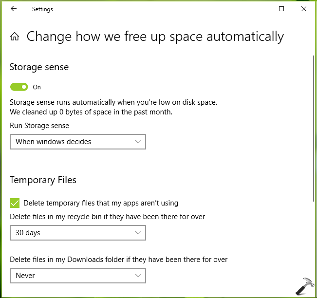 How To Use Storage Sense To Automatically Free Up Space In Windows 10