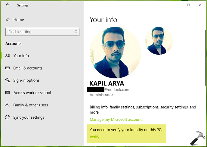 How To Verify Your Microsoft Account In Windows 10