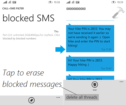 how do you block text messages on iphone how to view blocked sms in windows phone 8 1 20707
