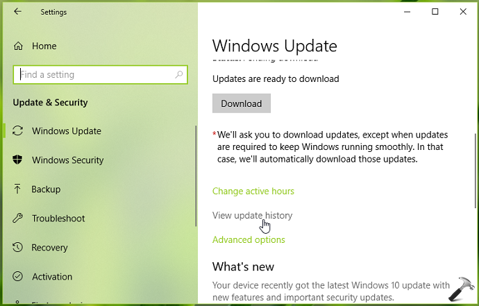 How To View Installed Update History In Windows 10