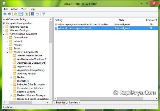 Office Group Policy Templates How To Install Unsigned Apps In Windows 8 8 1