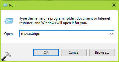 List Of ms-settings Commands To Open Specific Settings In Windows 10
