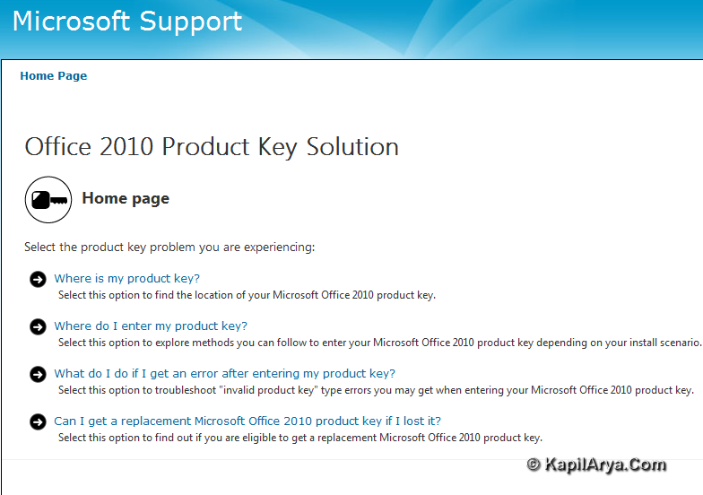 office 2010 i have product key